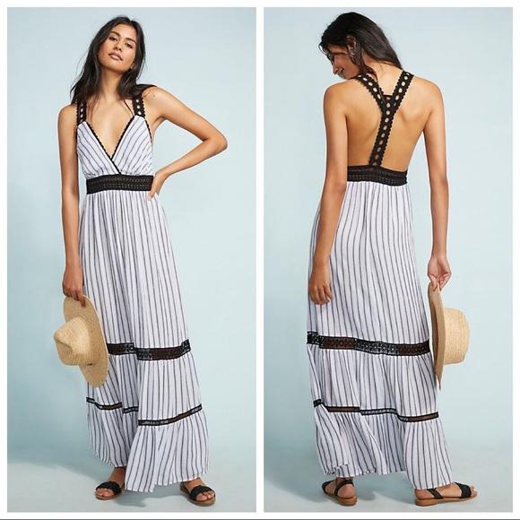 2c27221d5890 Anthropologie Dresses | Bnwt Lilka Jaluit Striped Maxi Dress | Poshmark